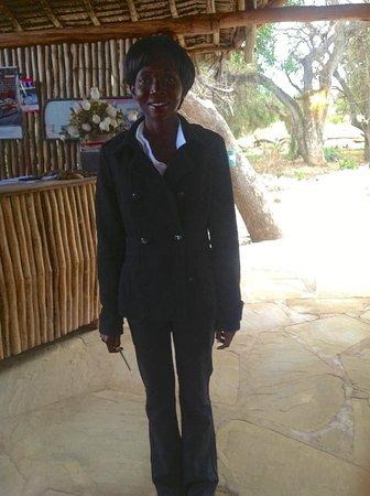 Ndololo Camp: la receptionist del campo tendato