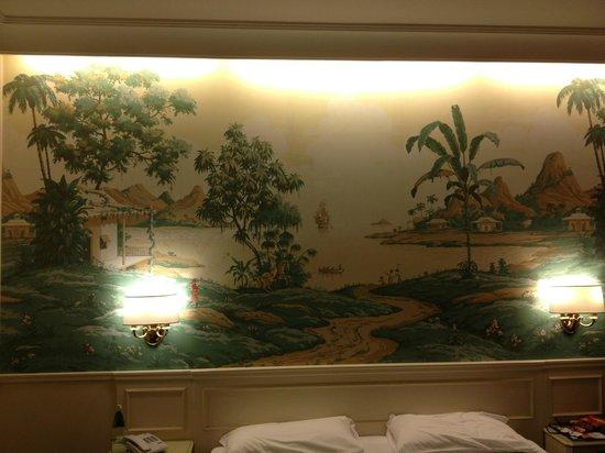 Donna Laura Palace Hotel: Chambre ( fresque décorative)