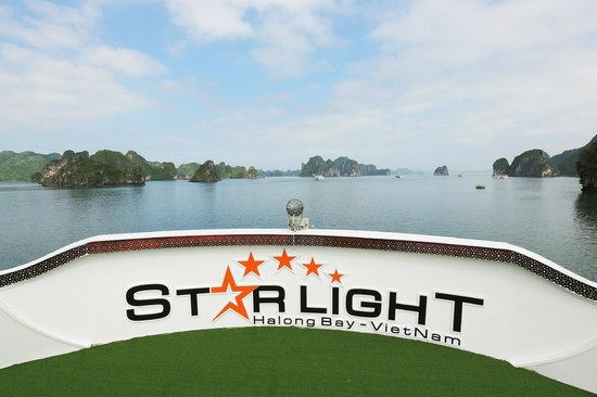 Starlight Cruise Halong Bay - Day Tour: View from sundeck of Starlight Cruise