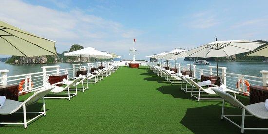 Starlight Cruise Halong Bay - Day Tour: Huge sundeck