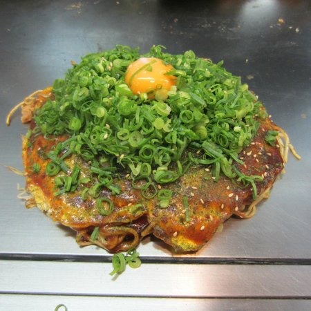 Okonomiyaki Nagata-ya: Plata especial del restaurante