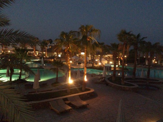 Hilton Sharm Waterfalls Resort: View from room at night