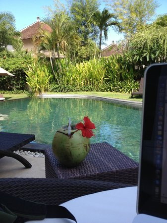Villa Diana Bali: Fresh coconut by the pool is so relaxing!