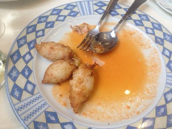 Casa Gaspar : calamaretti ripieni di gamberoni e porri