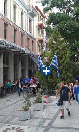 Ξενοδοχείο Τέμπη: Walking street behind Hotel Tempi