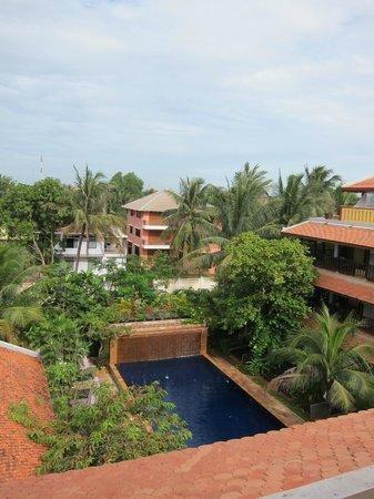 Siddharta Boutique Hotel : 3階の朝食会場でもあるレストランから見下ろした風景