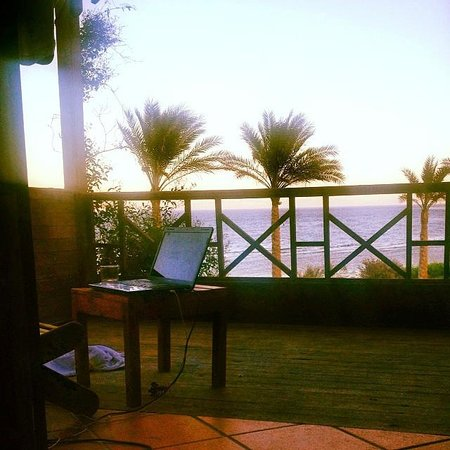 Dahab Paradise: My balcony office