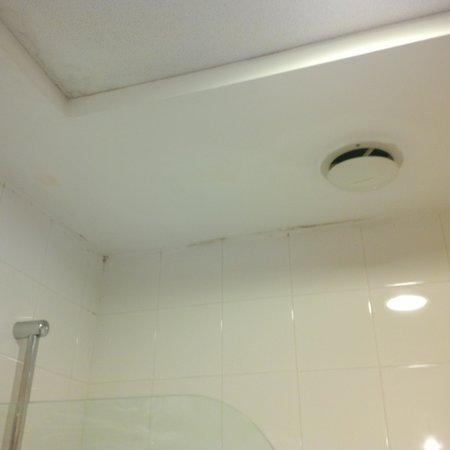 Grand Hotel Tiberio: Mold in the bathroom
