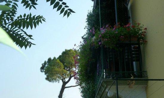 Hotel Villa Schindler : Balkon von Zimmer 6
