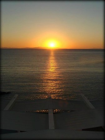 Studios Avra: Sunset View vom Studio 13