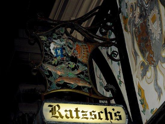 Karl Ratzsch Restaurant: Restaurant sign.