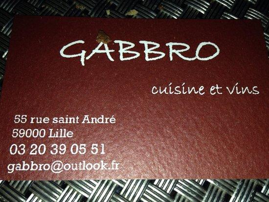 Gabbro Lille : GABRO