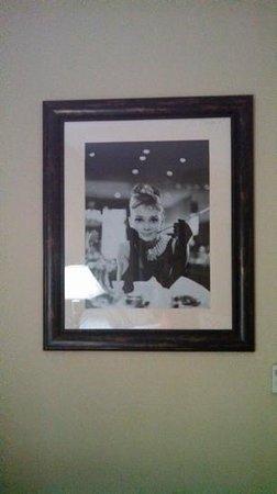 Sleep Inn & Suites : Audrey Hepburn photo in our room.