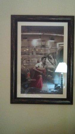 Sleep Inn & Suites : Elvis photo in our room.
