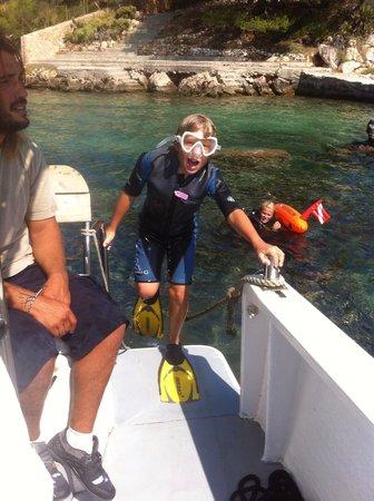 Scuba Mallorca: Thomas on his first dive..