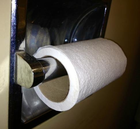 Mid-Iowa Motel : when i checked in, there was a half-used roll