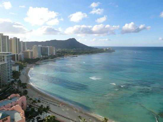 Sheraton Waikiki: ダイヤモンドヘッド、ワイキキビーチを臨む。