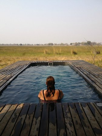 Wild Journeys: Plunge pool at Xarrana tented Camp Botswana