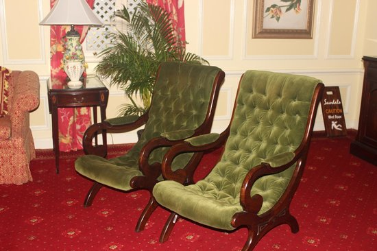 Sandals Royal Plantation: Vintage Chairs In The Drawing Room