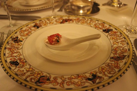 Sandals Royal Plantation : Amuse bouche at Le Papillon
