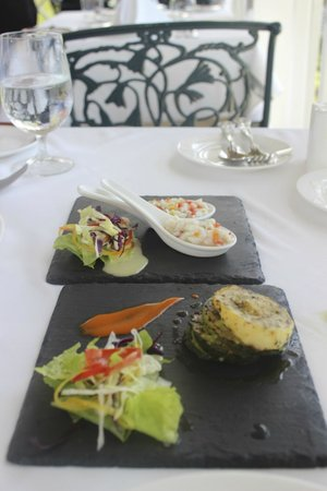 Sandals Royal Plantation : Divine dishes at the tapas style lunch!