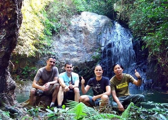 Golden Triangle Tours - Day Tours: trekking to the waterfall