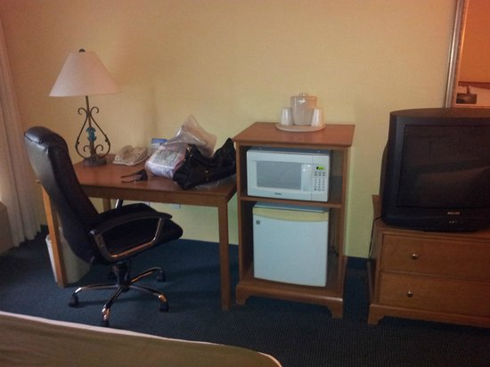 Holiday Inn Express Hotel and Suites Orlando-Lake Buena Vista South: Microondas e frigobar