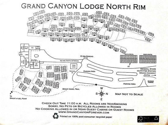 Grand Canyon Lodge - North Rim: Lodge map