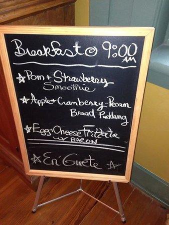Alpenhorn Gasthaus: Breakfast Menu