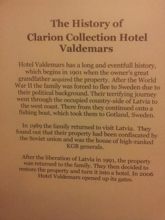 Clarion Collection Hotel Valdemars: elevator