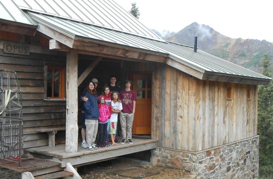 OPUS Hut: Most of our group at entrance