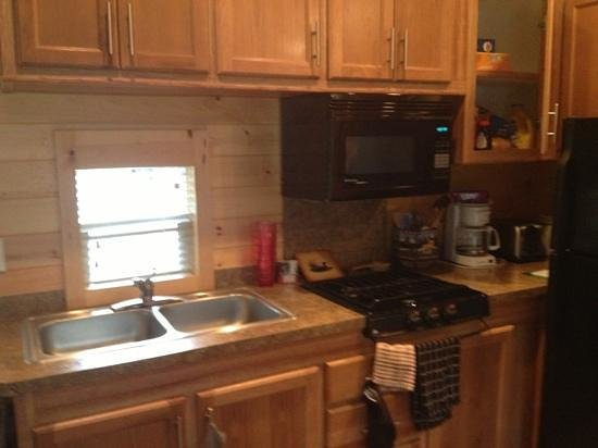 Lake Placid / Whiteface Mountain KOA : kitchen of the deluxe cabin all u can use