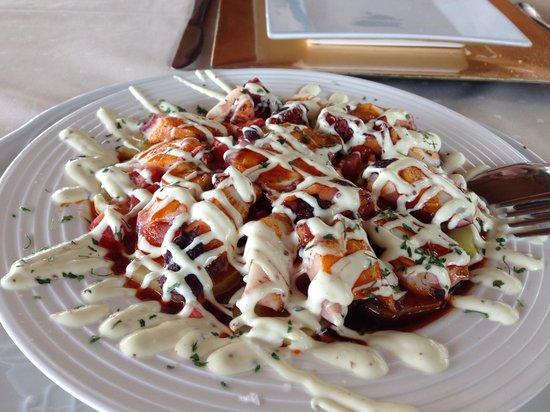 Restaurante Los Infantes Gourmet : Pulpo Templado con Mostaza