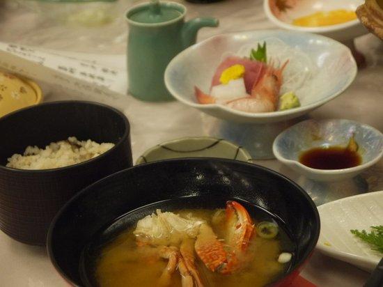 Kameyama Onsen Hotel : 夕食