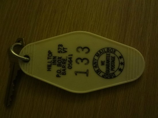 Hilltop Inn : room key