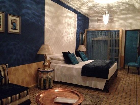 Riad Al-Bushra: the amazing blue room