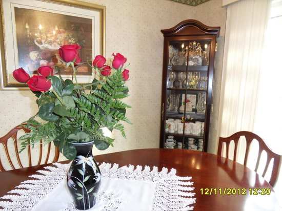 Yolanta's B&B: Dining room