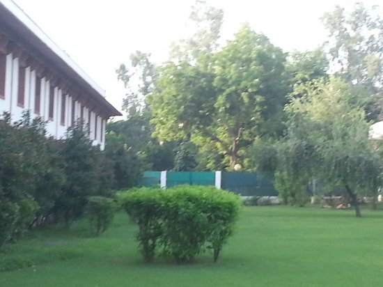 Trident, Agra: lawns from room