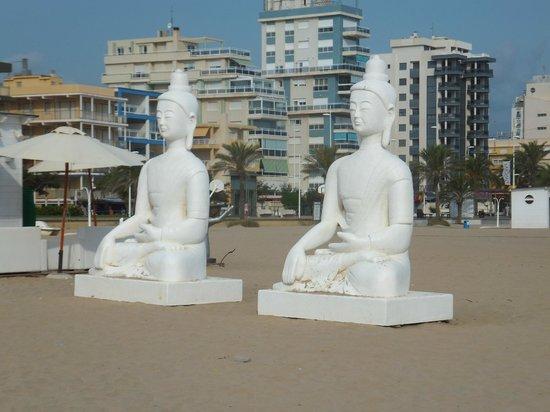 Hotel Mavi: Пляж