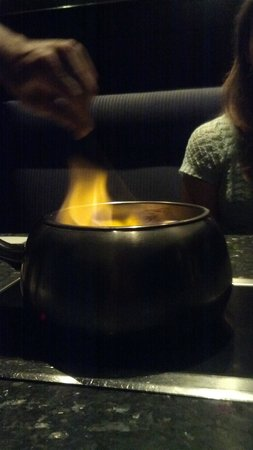 The Melting Pot: Chocolate Fondu. Flaming!!