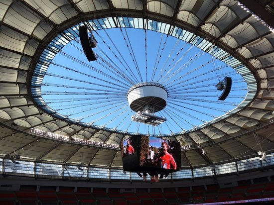 B.C. Place Stadium: BC Place with the roof open
