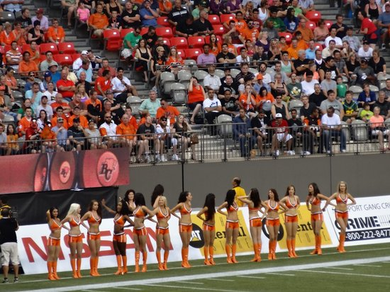 B.C. Place Stadium: The Felions Dance Team