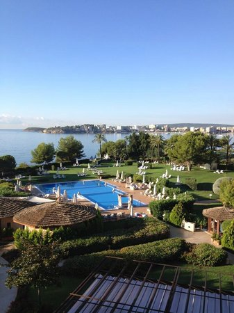 The St. Regis Mardavall Mallorca Resort: View from our junior suite on 5th floor (main building)