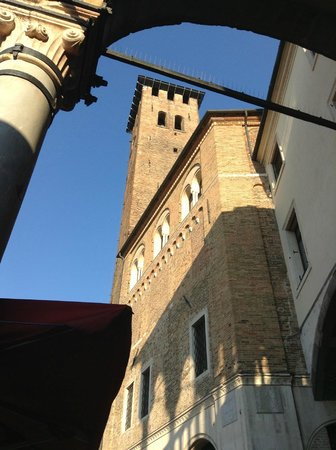 Bar dei Osei: the view from the table outside