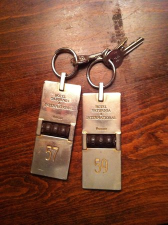 Hotel Saturnia & International : Keys!!!