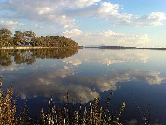Latina, Italy: Il lago d'inverno