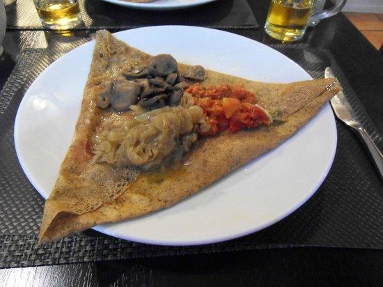 Balade en Crepanie : Typical savoury crêpe