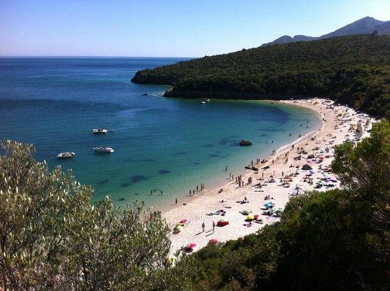 Arrabida Natural Park: Mountain view of the paradise-like beaches