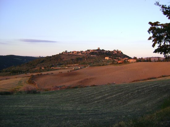 Azienda Agricola Barbi: The view to Monticchiello as you leave the house