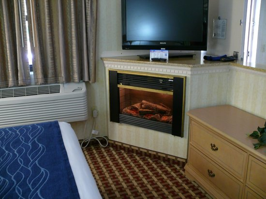 Quality Inn & Suites  Quakertown : fireplace